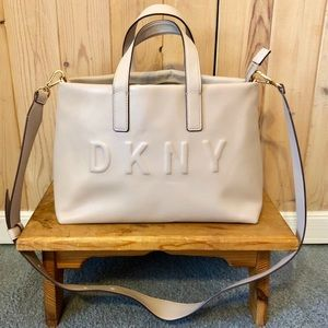 DKNY Tilly Logo Top Zip Tote in Blush